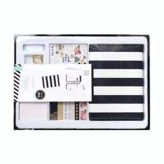 Heidi Swapp Black & White Stripe Planner Kit