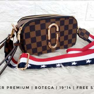 Mj damier premium free bag good quality