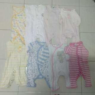 Sleepsuit combo 8pcs