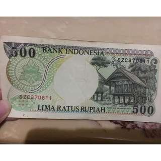 Uang Kertas Rp 500,-