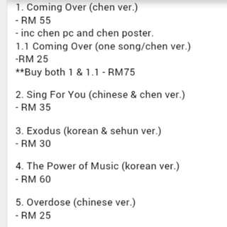 Selling EXO albums