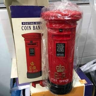 香港郵政 郵筒 錢箱 coin bank 圓型郵筒