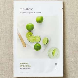 ❤️INSTOCKS❤️ Innisfree My Real Squeeze Mask [Lime]