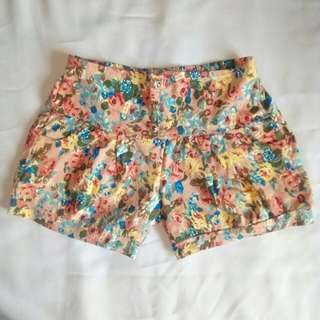 Floral Mid-rise Shorts