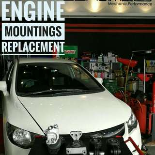 Honda Civic FD1: Engine Mountings Replacement