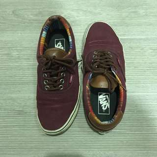 Vans shoes (Maroon with leather cuff)