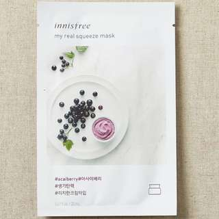 ❤️INSTOCKS❤️ Innisfree My Real Squeeze Mask [Acai Berry]