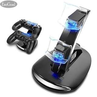 EsoGoal Dual USB Charging Charger Docking Station Stand for Playstation 4 PS4 Controller - intl