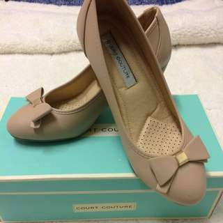 Nude Court Couture Bow heels