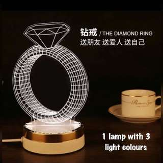 Valentine- Diamond Lamp