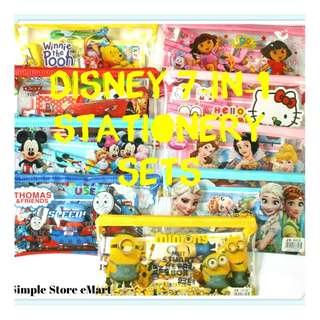★♥Brand New Disney Cartoon 7-in-1 Stationery Sets★♥