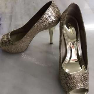 Lucieno Rose Gold Glitter Shoes