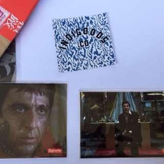 Supreme x Scarface Tony Montana Authentic Sticker