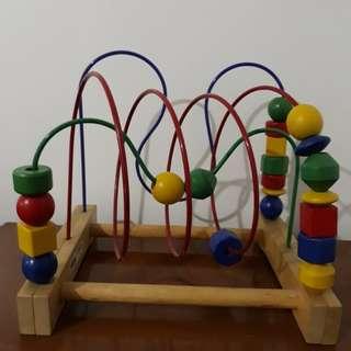 Roller coaster beads