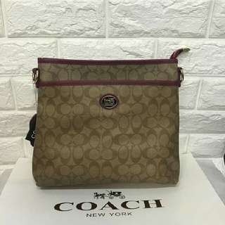 Coach sling (rep) P750 only addtl 50 if with paper bag Size:12x11-2.5
