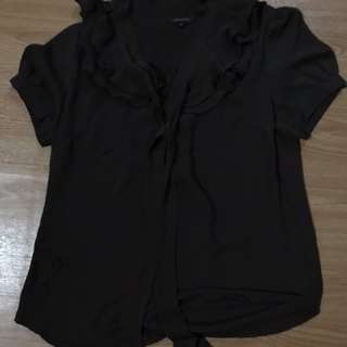 The executive dark brown blouse size M