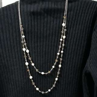 Double strand necklace accessory
