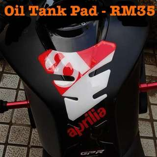 Motorcycles Oil Tank Pad Sticker Fish Bone