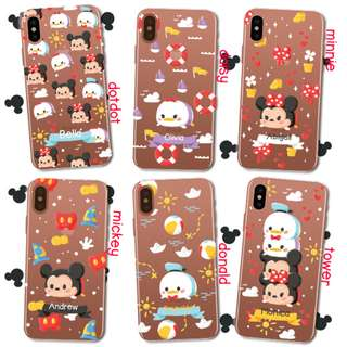 Custom Case Casing HP - Mickey and Friends Tsum Tsum