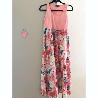 Nursing / maternity dress - pink floral