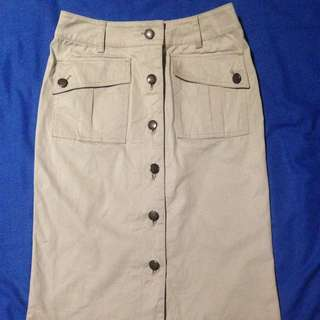 REPRICED : Dirty white high-waist Pencil Skirt