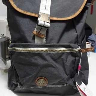 Kipling 新款特大淨色雙帶背包