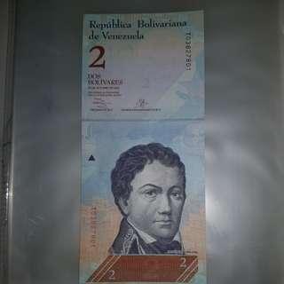 VENEZUELAN 2 BOLIVIARS