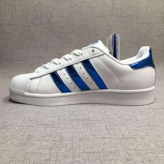 """Adidas Superstar """"White/Blue"""" Laser Sequined Leather"""