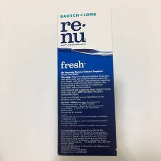Sealed Renu Contact Lens Solution
