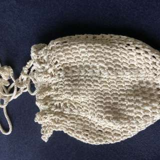 Hand crocheted pouch. Fully line. By mail