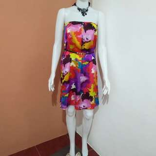 Colorful Dress with belt