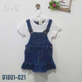 [READY STOCK]  🌸 Two-piece Jeans Jumpsuit Dress