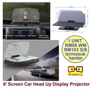 6' Screen Car Head Up Display Projector