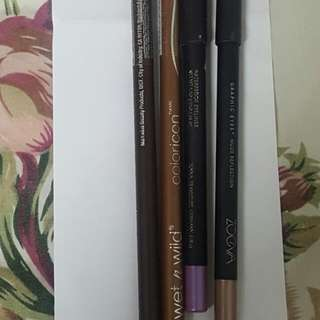 Authentic WetnWild & ZOEVA Eyeliner Pencils