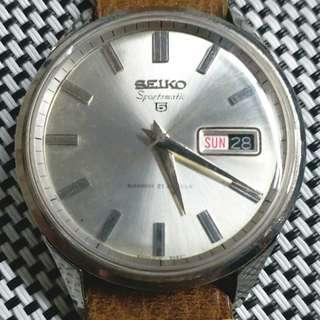日本製Seiko 6606-9980T 古董錶,原裝面,無番寫,粗釘尖針,21石自動機芯,未抹油行得走得,大錶頭37mm不連錶的,代用錶帶,淨錶$1000不議價,有意請pm