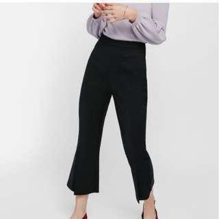Love Bonito Fiolyn Slit Cropped Black Pants