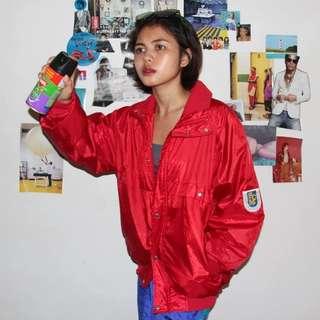 [UNISEX] Red Parachute 'SCM' Jacket