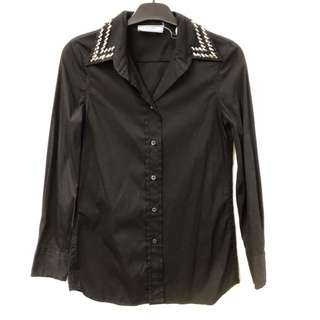 Prada black shirt with crystal size 38