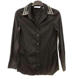 Prada black shirt with crystal size 38