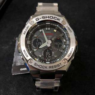 Casio G-Shock G-Steel GST-S110D-1A GST-S110D gst-s110d-1a Silver Stainless Steel