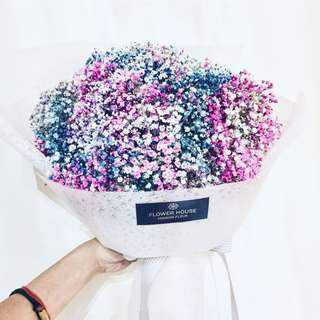 Vday Tinted Baby's Breath bouquet