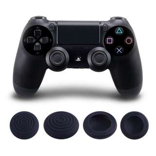 Set of 4 PS4 Black Controller Sillicon thumb grips cap / joystick cover / analog case