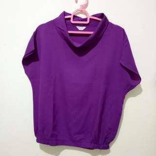Purple Batwing Top by Number61