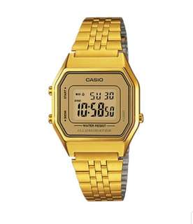 ORIGINAL CASIO WOMEN'S DIGITAL GOLD WATCH