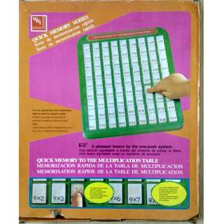 Quick Memory Series - Multiplication Table