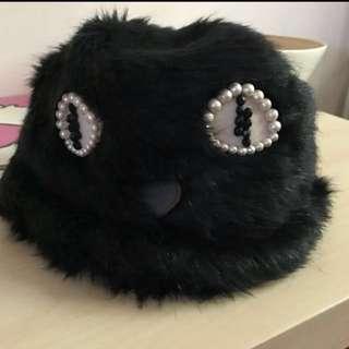 😍🈹️限時減價至850日本CA4LA毛毛貓眼帽