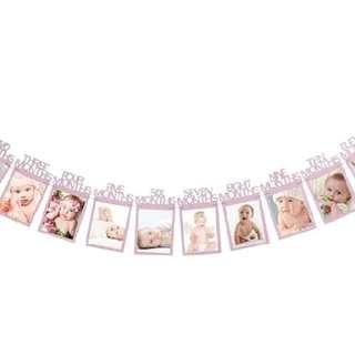 baby 12 months photo banner