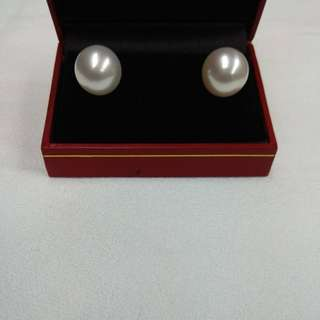 South Sea Pearl Earrings with 18K White Gold Mounting
