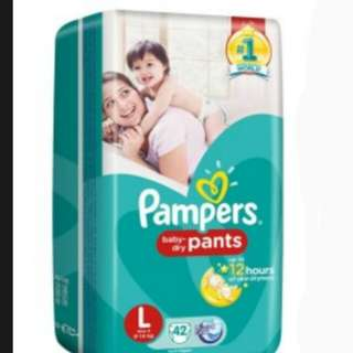 Pampers Pants / Pull-Ups Unisex (L)