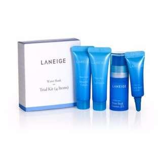 BNIP Laneige water bank trial kit (4 items)